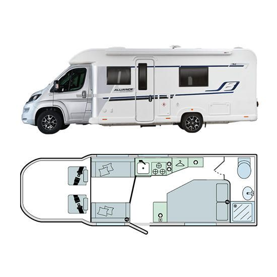 Bailey Motorhomes Alliance Silver Edition 76-2